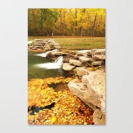Fall Serenity - Dogwood Canyon Nature Park Missouri Canvas Print