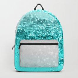 Silver Gray Aqua Teal Ocean Glitter #1 #shiny #decor #art #society6 Backpack