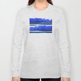 Wave Stripes Abstract Seascape Long Sleeve T-shirt