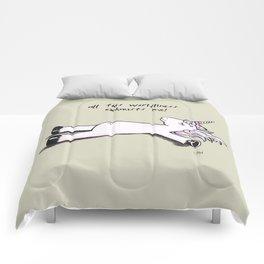 Exhausted Unicorn Comforters
