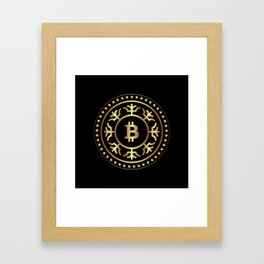Bitcoin 2 Framed Art Print
