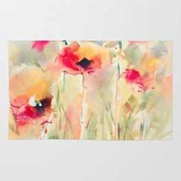 Poppies (abstract) Rug