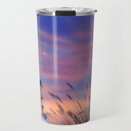 LOOK OUTSIDE - Flowers & Sunset #1 #art #society6 Travel Mug