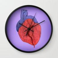 dad Wall Clocks featuring Dad by Peek in the Studio - Karla Sosa