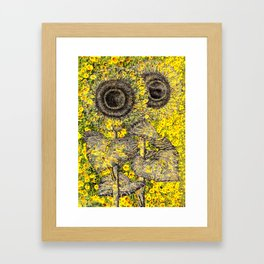 A Field of Sunflowers Framed Art Print