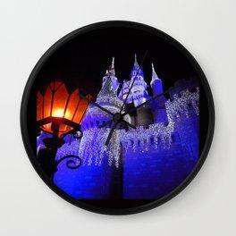 Blue Spires Wall Clock