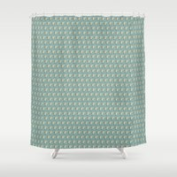 drums Shower Curtains featuring Rabbit on drums by Vicky Lommatzsch