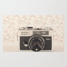 Film Camera (Retro and Vintage Still Life Photography)  Rug
