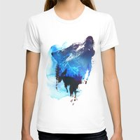 alone T-shirts featuring Alone as a wolf by Robert Farkas