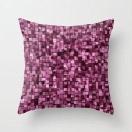 Burgundy glitter Throw Pillow