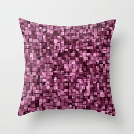 Burgundy glitter Throw Pillow