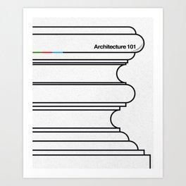 Architecture 101 Art Print