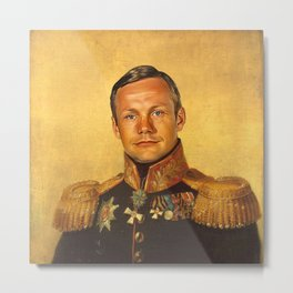Neil Armstrong - replaceface Metal Print