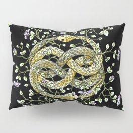 Neverending Story Inspired Auryn Garden in Black Pillow Sham