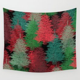 Christmas Tree Folly Wall Tapestry