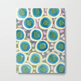 Four Directions beneath Circles Pattern Metal Print