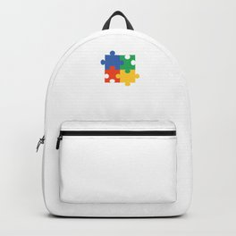 Puzzle Piece Geek Numbered Squares Puzzlers Thinking Gift Backpack
