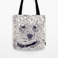 puppy Tote Bags featuring Puppy by echoes