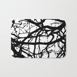 black branches Bath Mat