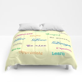 A Beautiful Life - yellow Comforters