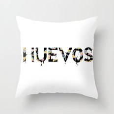 Huevos Throw Pillow