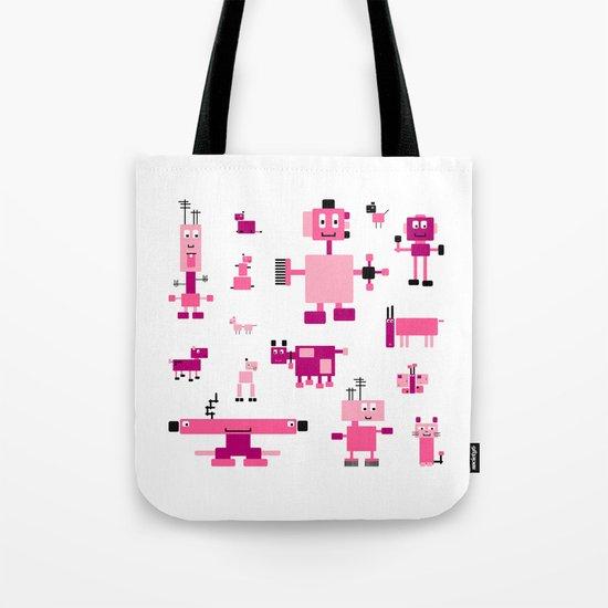 Robots-Pink Tote Bag