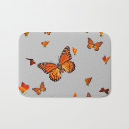 FLOCK OF ORANGE MONARCH BUTTERFLIES ART Bath Mat