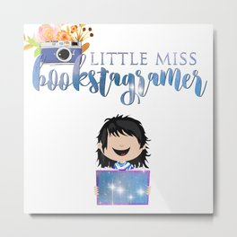 Little Miss Bookstagramer Metal Print