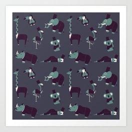 Party Animals Art Print