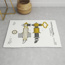 Beer Faucet Patent Rug