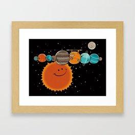 Zer0 Distance Hugz Framed Art Print