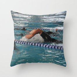 Snorkel Swimming Throw Pillow