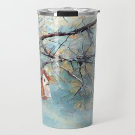 A Chickadees Home Travel Mug
