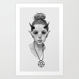 Monster Girl #3a Art Print