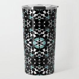 Black, blue, ornament Travel Mug