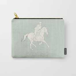 Eventing in green Carry-All Pouch