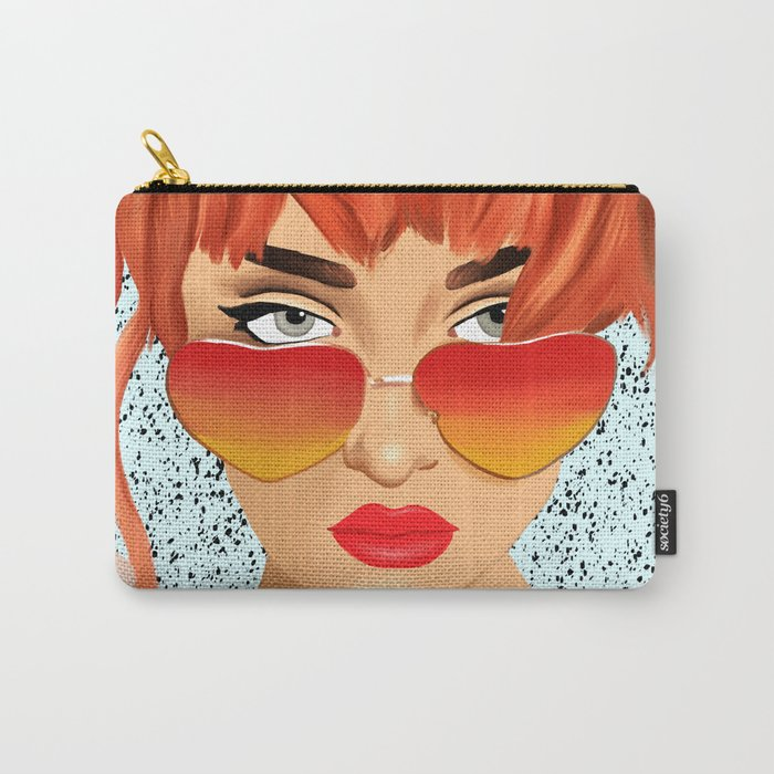 The Girl With The Heart Glasses Carry-All Pouch