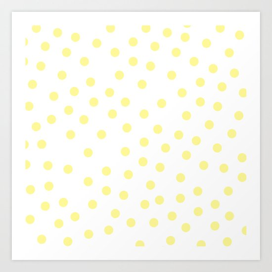 Simply Dots in Pastel Yellow Art Print