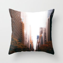 Cityscape Line (Color) Throw Pillow