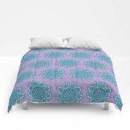 Celtic Mandala Lavender and Aqua Comforters