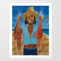 Big Lobster Art Print