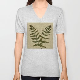 Ferns 2 by Kathy Morton Stanion Unisex V-Neck