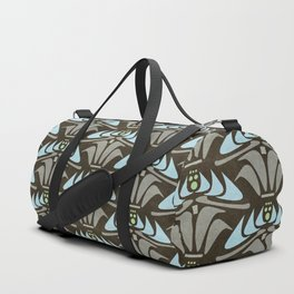 Blue - Arts and Crafts Inspired Stylized Floral Pattern - Susan Weller Duffle Bag