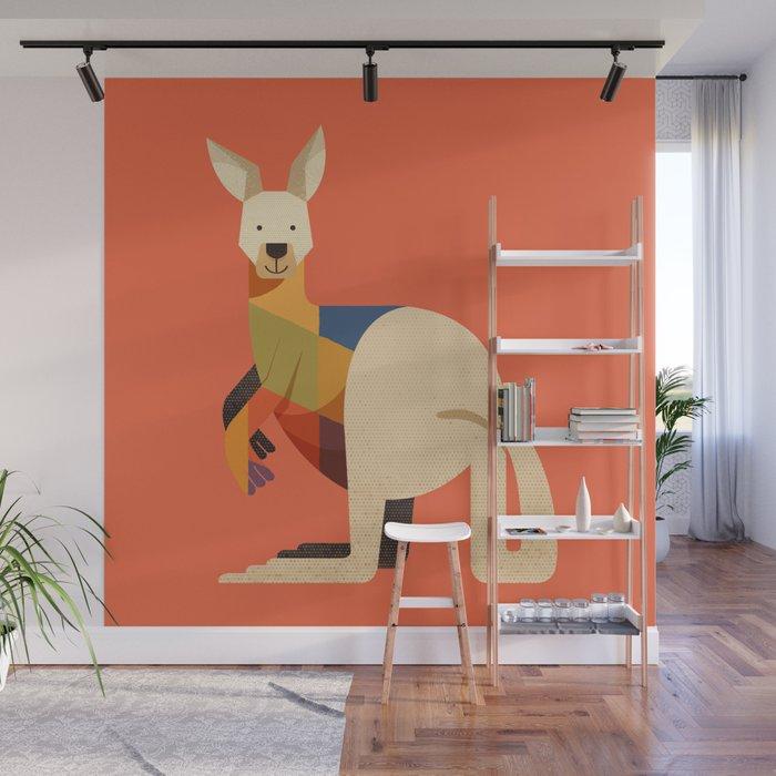 Kangaroo Wall Mural