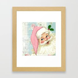 Retro Santa with music Gerahmter Kunstdruck