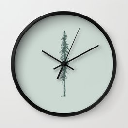 Love in the forest - sage Wall Clock