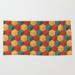 Retro Cubic Beach Towel