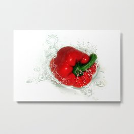 Red Pepper Splash Metal Print