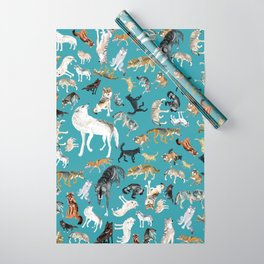 Wolves of the World pattern 2 Wrapping Paper