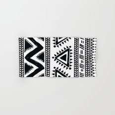 Tribal black and white Hand & Bath Towel